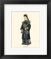 Framed Chinese Mandarin Figure VI