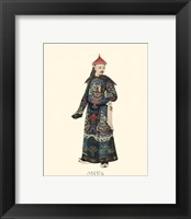 Framed Chinese Mandarin Figure I