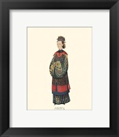 Framed Chinese Mandarin Figure IV