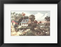 Framed American Homestead Summer
