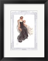 Framed Fashion Modes - Black Dress