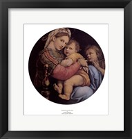 Framed Madonna of the Chair