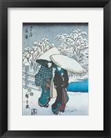 Framed Women in the Snow at Fujisawa