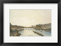 View of the Louvre from the Seine Framed Print