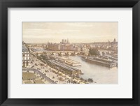 View of the Seine from the Louvre Framed Print