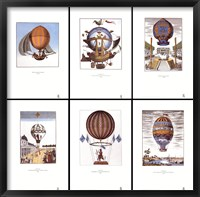 Framed Balloons (set of six prints each 12 X 18 in)