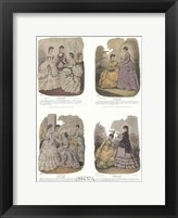 Framed French Fashion Set (Set of Four)