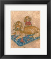 Dachsunds Framed Print