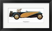 Framed Delage 1933