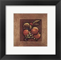 Framed Oranges and Grapes