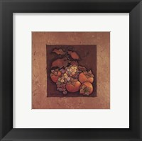Framed Persimmons and Grapes