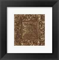 Framed Copper Leaf Rosette