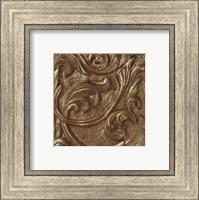Framed Copper Leaf Frieze