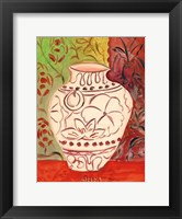 Lotus Pot I Framed Print