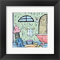 Relaxing Bath Framed Print