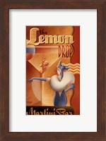 Framed Lemon Drop Martini Bar