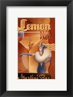 Framed Lemon Drop Martini Bar