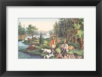 Framed Hunting Fishing & Forest Scenes
