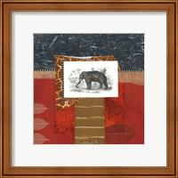 Framed Savannah Elephant