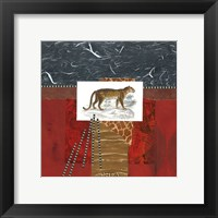 Framed Savannah Leopard