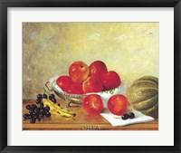Framed Still Life with Red Apples