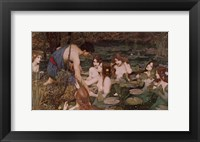Framed Hylas and the Nymphs
