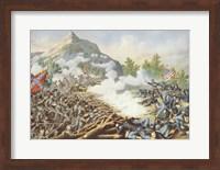 Framed Battle of Kenesaw Mountain