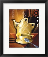 Deco Tea Framed Print