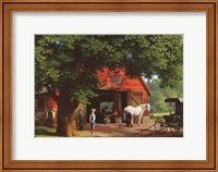Framed Horse and Buggy Days