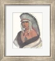Framed Pawnee Brave