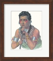 Framed Chief of the Ioways
