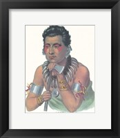 Chief of the Ioways Framed Print