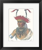 An Otto Half Chief Framed Print
