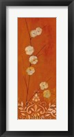 Framed Sienna Flowers I