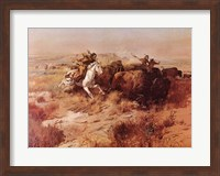 Framed Indian Buffalo Hunt