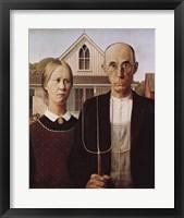 Framed American Gothic