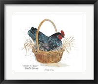 Framed Chicken in a Basket