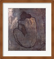 Framed Blue Nude (Seated Nude)