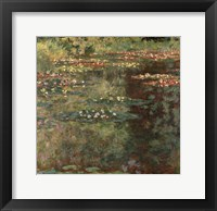 Pool with Waterlilies, 1904 Framed Print