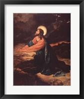Framed Christ in Gethsemane