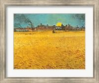 Framed Cornfields Near Arles