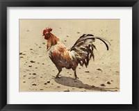 Framed Banty Rooster