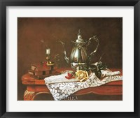 Framed Still Life with Yellow Rose