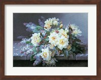 Framed Roses & Lilacs