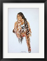 Framed Ihkas-Kinne, Siksika Blackfeet Chief