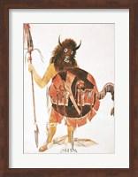 Framed Leader of Mandan Buffalo Bull Society