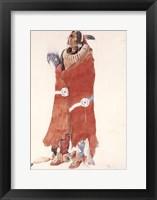 Mahchsi-Karehde, Mandan Man Framed Print