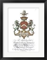 Framed Coat of Arms-Frederick Augustus Berkeley