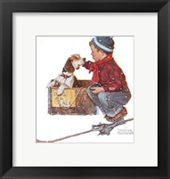Framed Boy Meets His Dog