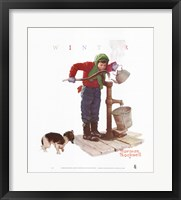 Chilling Chore Framed Print